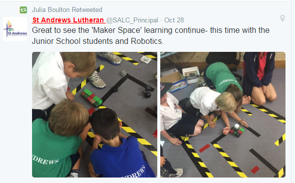 Makerspace tweet